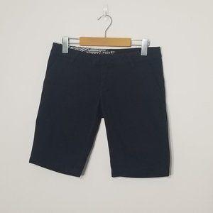Volcom | Black Flat Front Chino Skate Shorts 3